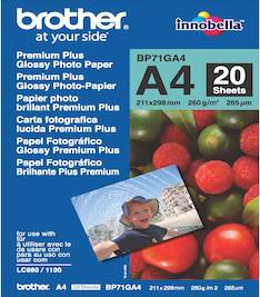 Photopaperi A4 260g BROTHER Premium - Valokuvapaperit - 119763 - 1